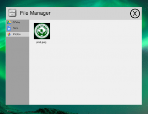 raspberry pi desktop experience file manager
