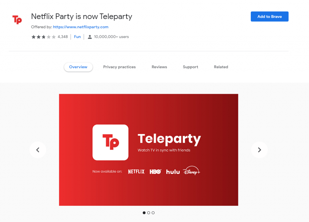 Netflix Party is now Teleparty - Staying Connected